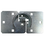 Universal Steel Shrouded Hasp for Hockey Puck-Style Locks