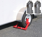 Heavy Duty Wheel Lock & Cargo Door Lever Lock Combo- Keyed Alike